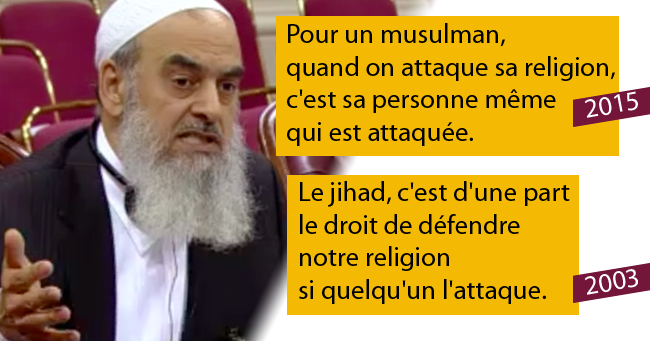 Elmenyawi considers that the denigration of religion and prophets is a personal attack against the Muslims, and that the prohibition of denigration prevent the radicalization of young Muslims. In other words, it calls freedom of expression in Quebec is bounded by the Sharia.