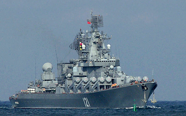 The Moskva guided missile cruiser