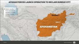 Afghan forces struggle to retake Kunduz city