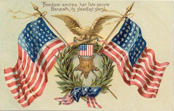 vintage-double-american-flags-eagle1